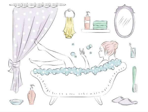 ボディブラシのお風呂での使い方