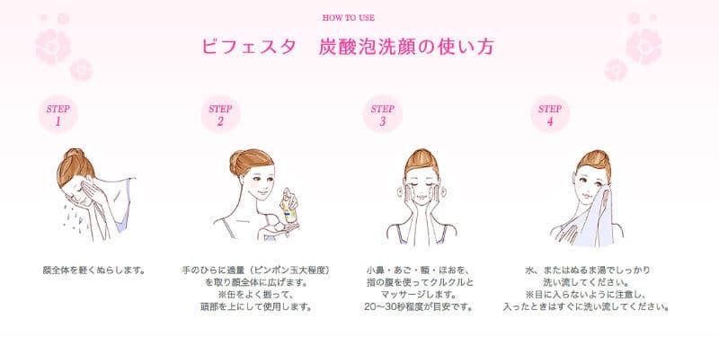 泡洗顔の洗い方