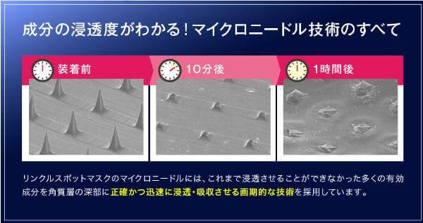 リンクルスポットマスクの溶解スピード