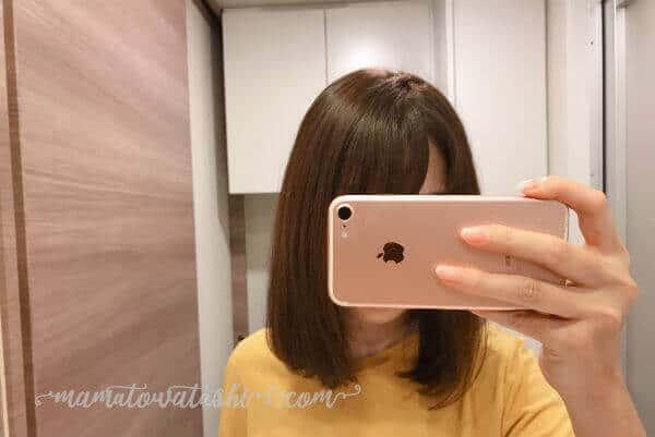 PanasonicEH-NA0Bのナノイー効果で髪の毛がツヤツヤ