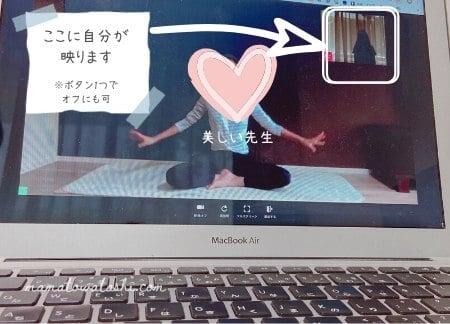 SOELUの動画レッスン画面